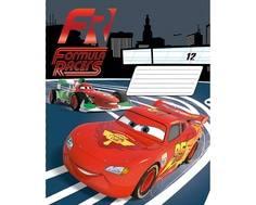 Тетрадь в клетку/линейку Disney Cars 12 листов в ассортименте