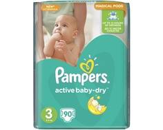 Подгузники Pampers Active Baby-Dry 3 (5-9 кг) 90 шт.