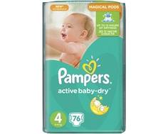 Подгузники Pampers Active Baby-Dry 4 (8-14 кг) 76 шт.