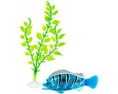 Интерактивная игрушка Z-Fish «Рыбка плавающая с аксессуарами» голубая