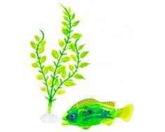 Интерактивная игрушка Z-Fish «Рыбка плавающая с аксессуарами» зеленая
