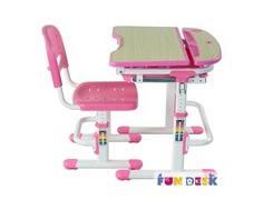 Комплект мебели FunDesk «Sorriso» стол 71х55 см и стул розовый