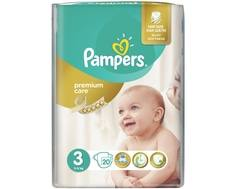 Подгузники Pampers Premium Care 3 (5-9 кг) 20 шт.