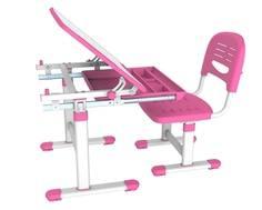 Комплект мебели Mealux «EVO-06» стол 70х54 см и стул розовый