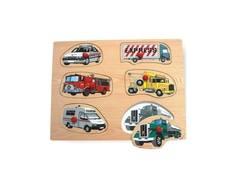 Рамка-пазл Wooden Toys «Машинки»