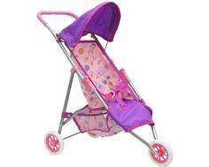 Коляска для куклы Mami «Трость» трехколесная розово-лиловая Mami