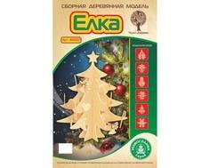 Сборная модель Wooden Toys «Новогодняя елка с Игрушками» деревянная