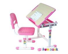 Комплект мебели FunDesk «Piccolino» стол 66х47 см и стул розовый