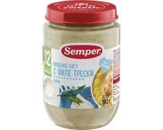 Пюре Semper Овощное рагу с филе трески с 12 мес. 190 г