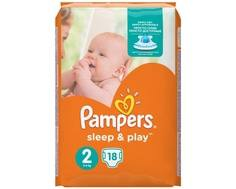 Подгузники Pampers Sleep&Play 2 (3-6 кг) 18 шт.