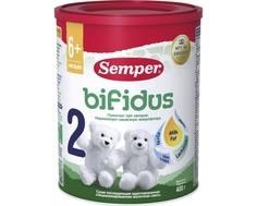 Молочная смесь Semper Bifidus 2 с 6 мес. 400 г