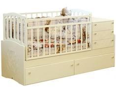 Кроватка-трансформер Daka Baby 03 ваниль Dakababy