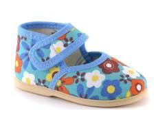 Туфли для мальчика Домашки голубые