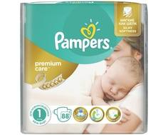 Подгузники Pampers Premium Care 1 (2-5 кг) 88 шт.