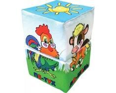 Кубики мягкие Дельфин Крутилка «Ферма»