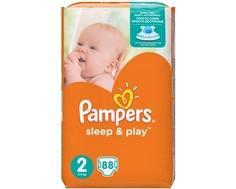 Подгузники Pampers Sleep&Play 2 (3-6 кг) 88 шт.
