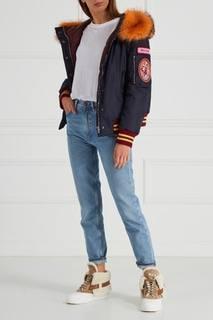 Куртка с меховым воротником Miu Miu