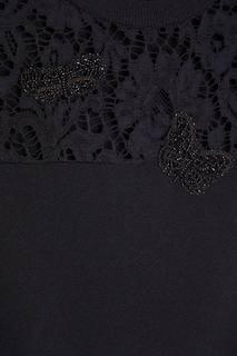 Платье с кружевной кокеткой Valentino