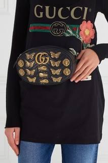 Поясная сумка GG Marmont с декором Gucci