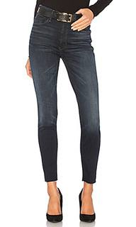 Узкие джинсы high waisted looker ankle fray - MOTHER