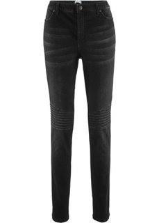 Байкерские джинсы дизайна Maite Kelly (черный «потертый») Bonprix