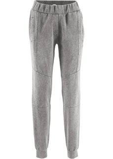 Трикотажные брюки с имитацией поношенности − дизайн Maite Kelly (шиферно-серый) Bonprix