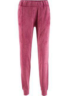 Трикотажные брюки с имитацией поношенности − дизайн Maite Kelly (красный рододендрон) Bonprix