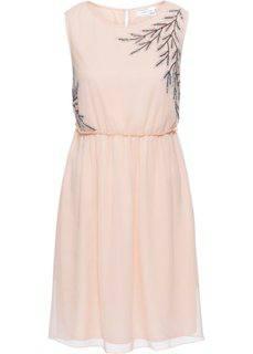 Платье с аппликацией из бусин (розовый) Bonprix