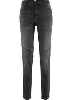 Байкерские джинсы дизайна Maite Kelly (серый деним «потертый») Bonprix
