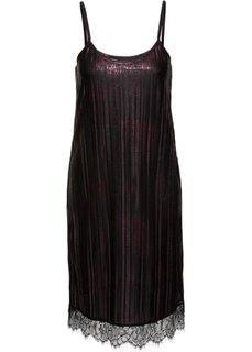 Платье с кружевной отделкой (бордовый/черный) Bonprix