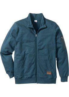 Трикотажная куртка Regular Fit (серо-синий) Bonprix