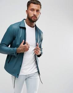 Непромокаемая куртка с контрастными рукавами Another Influence - Темно-синий