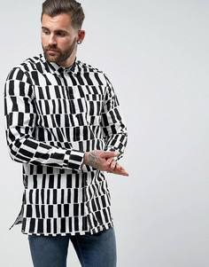 Удлиненная рубашка с принтом Levis Line 8 - Белый