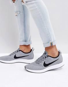 Серые кроссовки-премиум Nike Dualtone Racer 924448-001 - Серый