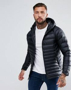 Черная пуховая куртка с капюшоном Nike 866027-010 - Черный