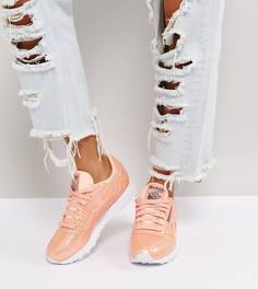 Розовые лакированные кроссовки из кожи Reebok Classic - Розовый