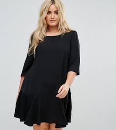 Платье с баской Junarose - Черный