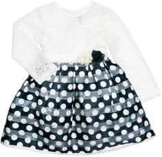 Платье детское для эпизодического использования Barkito «Праздничная», белое с синей отделкой