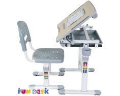 Комплект мебели FunDesk «Bambino» стол 66х47 см и стул серый