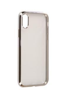 Аксессуар Чехол iBox Blaze Silicone для APPLE iPhone X Silver frame