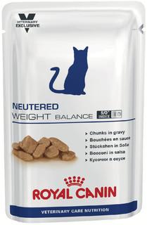 Корм ROYAL CANIN VCN Neutered Weight Balance Кусочки в соусе 100g для кастрированных котов и кошек сконные к полноте 772101/772001