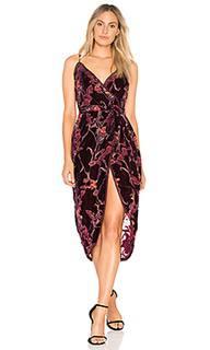 Платье с запахом burnout velvet - J.O.A.