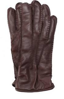 Кожаные перчатки с подкладкой из смеси шерсти и кашемира Pal Zileri