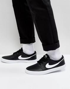 Черные кроссовки Nike SB Portmore II Solar Premium 923115-010 - Черный