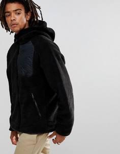 Черная куртка с капюшоном из искусственной цигейки Nike SB Everett 862745-010 - Черный
