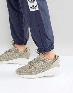 Бежевые кроссовки adidas Originals Tubular Doom Primeknit BY3561 - Бежевый