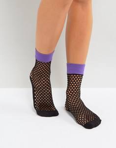 Ярко-фиолетовые сетчатые носки Jonathan Aston - Фиолетовый