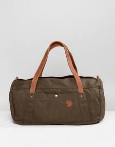 Зеленая сумка дафл Fjallraven No4 - 30 л - Черный