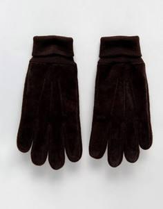Замшевые перчатки Boardmans - Коричневый