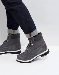 Классические замшевые ботинки Timberland 6 дюймов - Серый